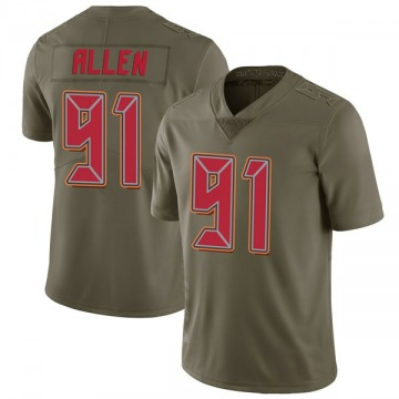 Men's Beau Allen Tampa Bay Buccaneers Limited Green 2017 Salute to Service Jersey
