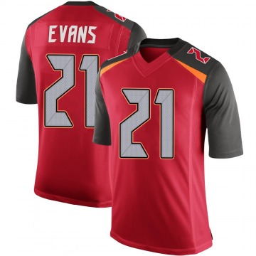 Men's Justin Evans Tampa Bay Buccaneers Limited Red 100th Vapor Jersey