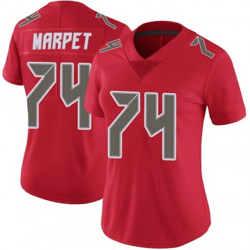 Women's Ali Marpet Tampa Bay Buccaneers Limited Red Color Rush Jersey