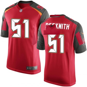 Youth Kendell Beckwith Tampa Bay Buccaneers Game Red Team Color Jersey